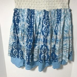 Free People Blue/white/silver  NWT Mini Skirt 2